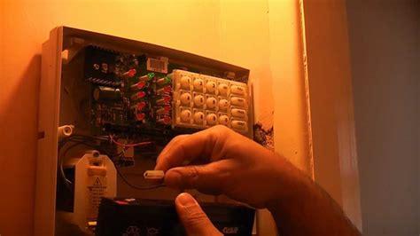 Replacing Burglar Alarm Battery Youtube