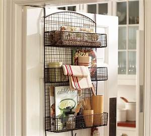 Behind the door wire storage eclectic pantry and for Behind the door pantry organizer