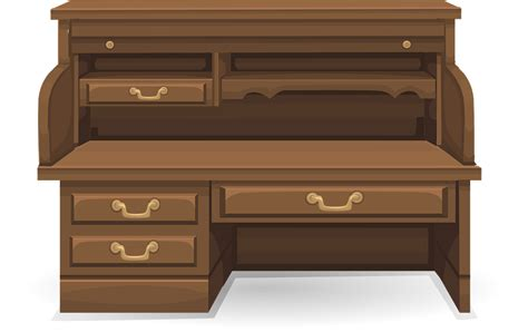 bureau transparent bureau meubles espace de travail images vectorielles