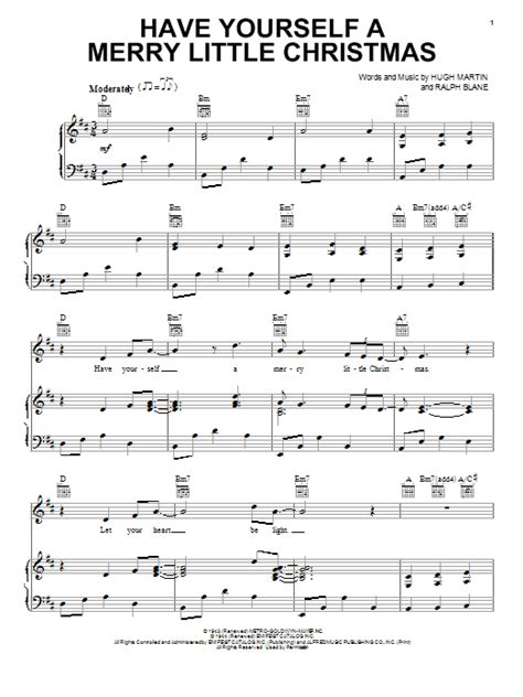 Have Yourself A Merry Little Christmas  Sheet Music Direct
