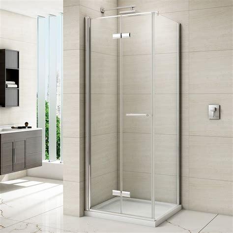 merlyn  series frameless hinged bifold shower door mm