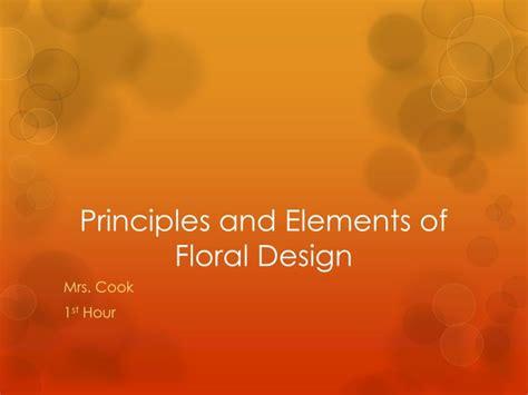principles  elements  floral design powerpoint