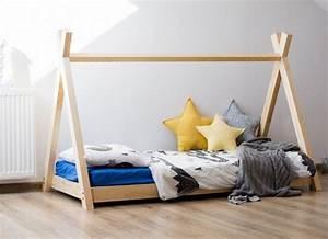 Tipi Indien Enfant : lit tipi indien 70x140 miky mobilier lit enfant en bois jurassien ~ Melissatoandfro.com Idées de Décoration