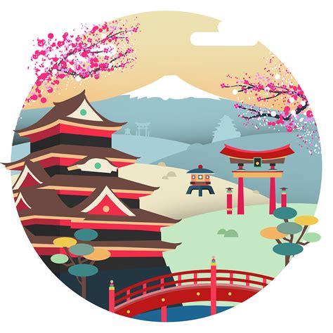 tokyo japan vector illustration  behance