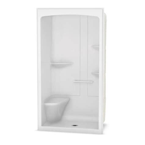 3 Shower Kit by Maax Camelia White Acrylic Wall 3 Alcove Shower Kit
