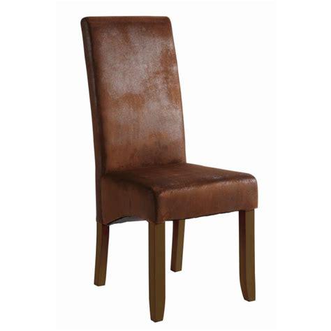 chaises pour salle manger lot de 2 chaises sagua marron pour salle à manger achat