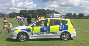 Traveller 'steals' police car and speeds around field ...