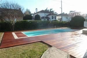 realisation d39une terrasse en bois exotique autour piscine With realiser une terrasse en bois