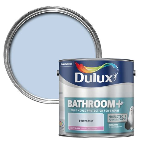 Dulux Bathroom+ Blissful Blue Soft Sheen Emulsion Paint 2