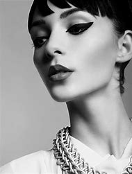 Black and White Fashion Photography Makeup