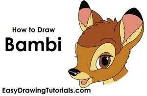 How to Draw Bambi Drawing