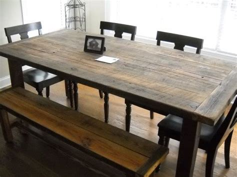 Barn Wood Dining Room Table  Woodworking Projects & Plans