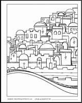 Jerusalem Coloring Jewish Zenspirations Yerushalayim Crafts Yom Bible ירושלים Joanne Fink Adult Israel Drawing Launch Celebration Skyline Kleurplaten יום Zentangle sketch template