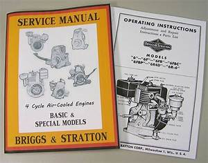 Briggs Stratton 6 6f 6fb Service Repair Owner Operator