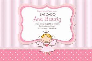 Convite Digital Batizado Menina = 12,00 R$ 12,00 em Mercado Livre