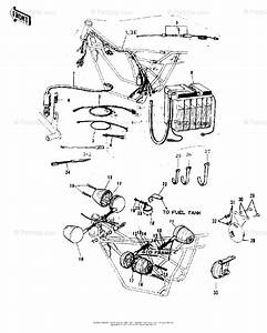 Kawasaki Motorcycle 1973 Oem Parts Diagram For Chassis Electrical Equipment   U0026 39 72