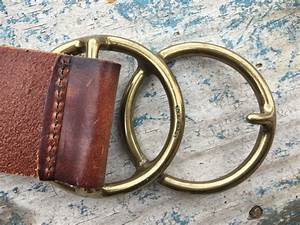 Vintage Made In Usa Gap Leather Belt Brass Belt Buckle Venn Diagram Math Lover Gift Men U0026 39 S Belt
