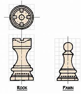 Free Chess Set Woodworking Plans from Shopsmith??rook pawn