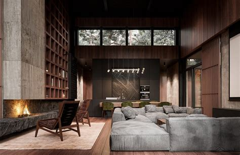 Home Interior by Rich Exquisite Modern Rustic Home Interior