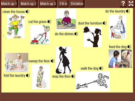 house chores  english guideorg
