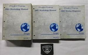 2002 Mercury Cougar Service Shop Repair Set Oem 2 Volume Service Set And The Wiring Diagrams