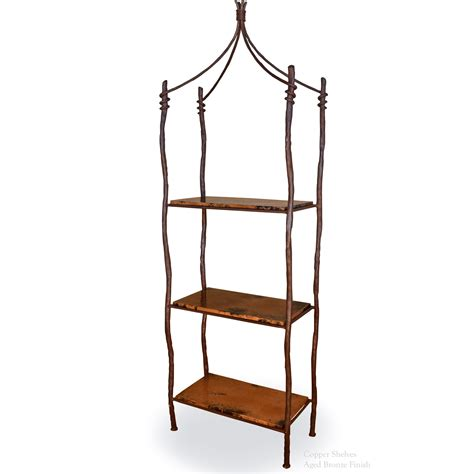 wrought iron etagere pictured is our rustic style south fork iron
