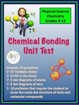 chemical bonding unit test ionic  covalent  amy