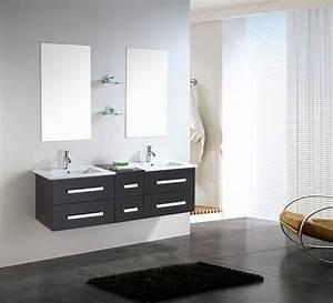 Meuble Salle De Bain 150 Cm : rome meuble de salle de bain 150 cm lavabo inclus ~ Dailycaller-alerts.com Idées de Décoration