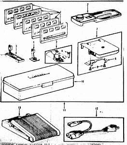 Foot Control And Templates Diagram  U0026 Parts List For Model 1581792080 Kenmore