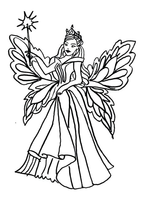 Realistic Fairy Coloring Pages at GetColorings com Free