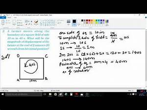 How To Calculate Magnitude Of Displacement