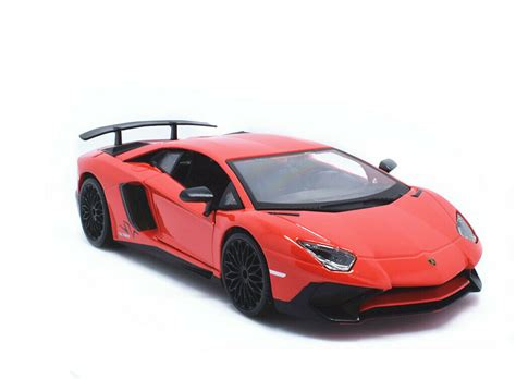 lamborghini aventador sv roadster model car bburago 1 24 lamborghini aventador lp750 4 sv diecast model roadster car red ebay