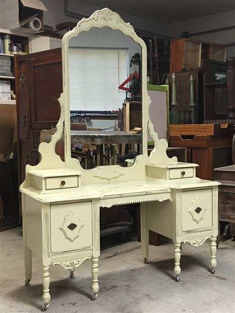 restored shabby chic furniture makeup vanity custom order an antique dresser shabby chic painted distressed restored bedroom