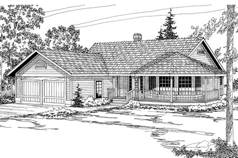 country house plans crescent    designs