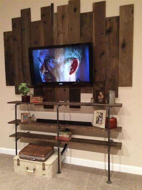 diy wood pallet tv mount home design garden
