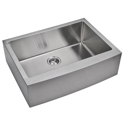 stainless apron front sink water creation farmhouse apron front small radius