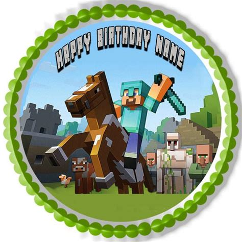 minecraft characters  edible cake  cupcake topper