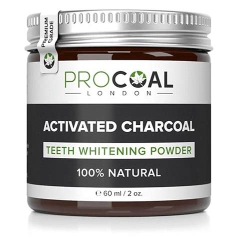 PROCOAL Activated Charcoal Teeth Whitening Powder 60ml (Premium Grade) by PROCOAL