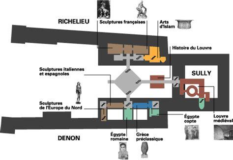 floor l le musée du louvre plan et localisation des oeuvres