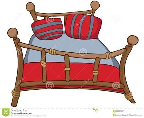 Cartoon Home Furniture Bed Stock Illustration