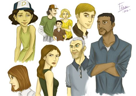 The Walking Dead Game Characters By Finateh92 On Deviantart