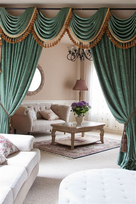 curtains valances and swags green chenille swag valance draperies