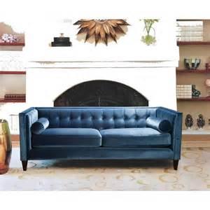 Tufted Velvet Sofa Blue by Blue Velvet Tufted Chair Gnewsinfo
