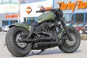 A customized Dyna Fat Bob - military style Harley-Davidson ...