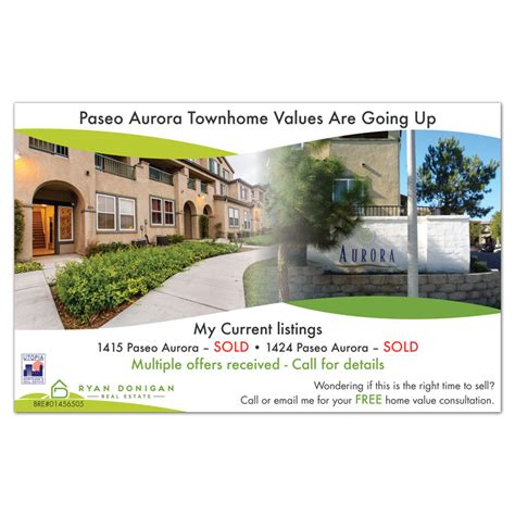 real estate postcard postcard printing and mailing service san diego pacific