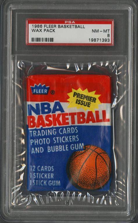 lot detail  fleer basketball wax pack psa nm mt