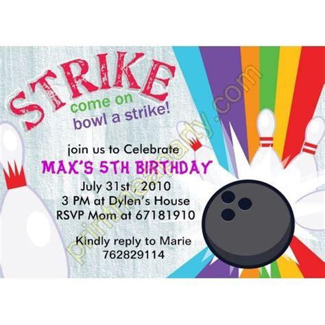 printable bowling birthday invitations drevio
