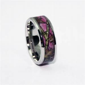 Pink camo bevel ring camo wedding ring camo silicone for Pink camo wedding ring