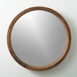 Cb2 Mirrors acacia wood 24 quot wall mirror cb2