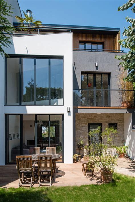 extension r 233 habilitation d une maison de ville projet o contemporain fa 231 ade